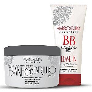 KIT HIDRATANTE BANHO DE BRILHO + BB CREAM MARROQUINA