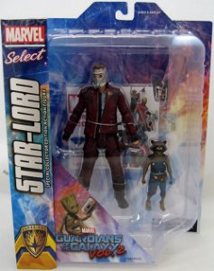 Marvel Select Star Lord E Rocket Guardiões da Galaxia 2