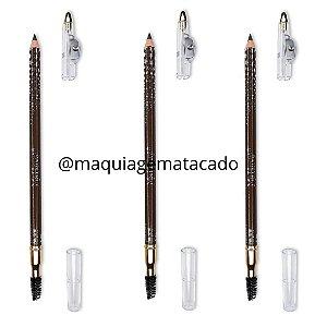 Kit 03 Unidades Lápis Universal Para Sobrancelhas Com Escova Mahav