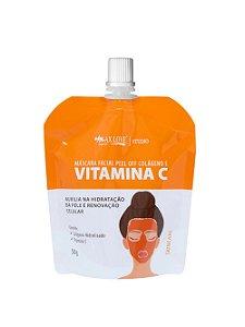 Máscara Facial Peel Off Vitamina C e Colágeno Sachê 50g Max Love