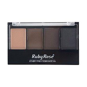 Trio de Sombra para Sobrancelha com Primer Ruby Rose HB9354