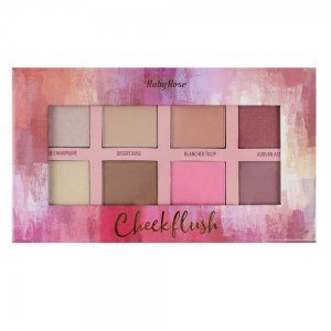 Paleta de Iluminador, Blush e Contorno Ruby Rose Cheek Flush HB7507