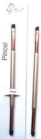 Pincel 2 em 1 Para Delinear e Esfumar Miss Frandy Linha Bronze PM16-60211