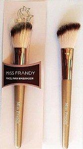 Pincel Chanfrado Para Blush Miss Frandy Linha Bronze PM16-60203