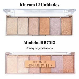 12 Unidades - Paleta de Iluminador Light My Fire Ruby Rose HB7512