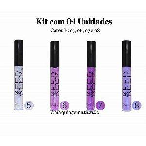 04 Unidades - Top Coat Efeito Espelhado Holográfico Dalla Makeup Keep Shining Cores B