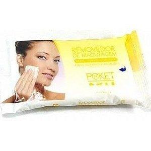Removedor de Maquiagem - Lenços Hidratantes Umedecidos Poket Ruby Rose HB199 Amarelo