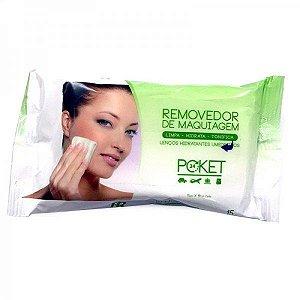 Removedor de Maquiagem - Lenços Hidratantes Umedecidos Poket Ruby Rose  HB199 Verde