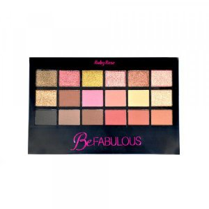 Paleta de Sombra Ruby Rose 18 cores Be Fabulous HB9931