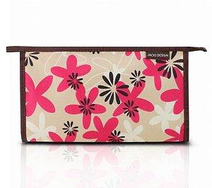 Necessaire Envelope (G) - Miss Douce Jacki Design ABC17198 Bege Flores
