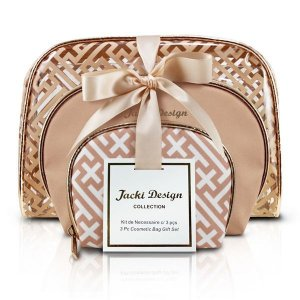 Kit de Necessaire c/ 3 peças - Diamantes Jacki Design ABC17380 Dourada