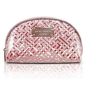 Necessaire Meia Lua - Diamantes Jacki Design ABC17378 Rosa
