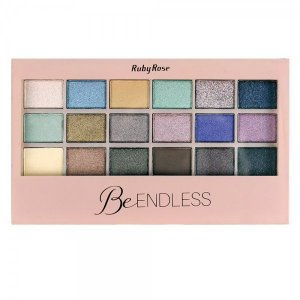 Paleta de Sombra Ruby Rose 18 cores Be Endless HB9927