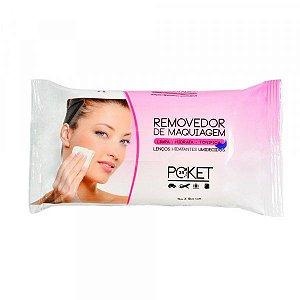 Removedor de Maquiagem - Lenços Hidratantes Umedecidos Poket Ruby Rose HB199 Rosa
