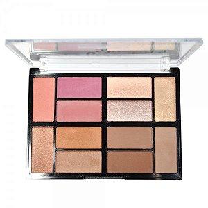 Paleta de Blush, Bronzer, Contorno e Iluminador Perfect Shading Ruby Rose HB7220
