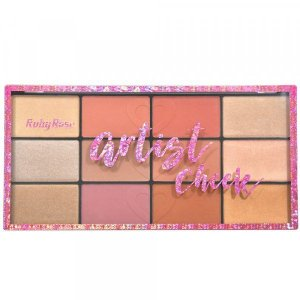 Paleta de Blush e Iluminador Artist Cheek Ruby Rose HB7219
