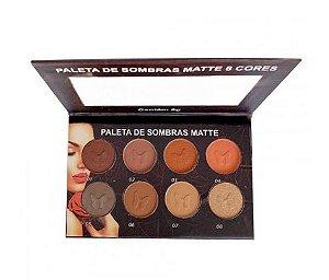 Paleta de Sombras Matte 08 Cores Ludurana M00045