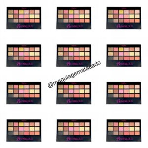 12 Unidades - Paleta de Sombra Ruby Rose 18 cores Be Fabulous HB9931