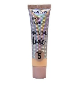 Base Líquida Natural Look Ruby Rose Bege 5 - HB8051