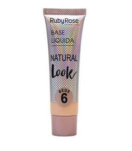 Base Líquida Natural Look Ruby Rose Bege 6 - HB8051