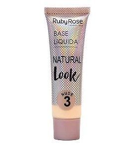 Base Líquida Natural Look Ruby Rose Nude 3 - HB8051