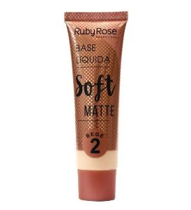 Base Líquida Soft Matte Ruby Rose Bege 2 - HB8050