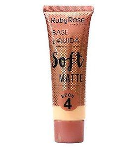 Base Líquida Soft Matte Ruby Rose Bege 4 - HB8050
