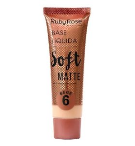 Base Líquida Soft Matte Ruby Rose Bege 6 - HB8050