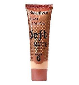 Base Líquida Soft Matte Ruby Rose Bege 6 - HB8050