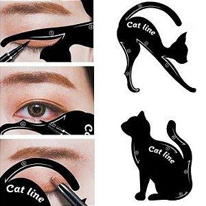Molde Para Delinear Linha de Gato Hello Mini H016-2