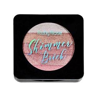 Iluminador Shimmer Brick 5 em 1 Ruby Rose Rosê HB7226-4