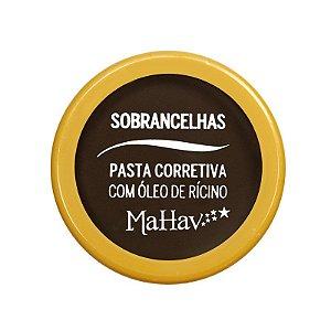 Pasta Corretiva Para Sobrancelha Com Óleo de Rícino Mahav Cor 01