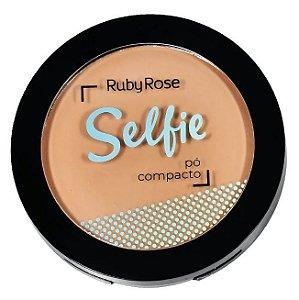 Pó Compacto Selfie Ruby Rose Cor 02 Bege Claro