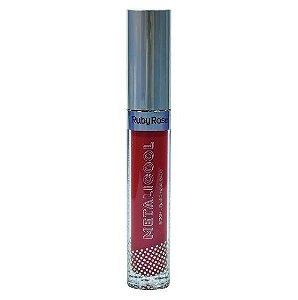 Batom Líquido Metalizado Ruby Rose Metacool Cor 063
