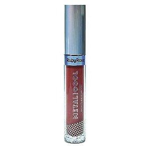 Batom Líquido Metalizado Ruby Rose Metacool Cor 211