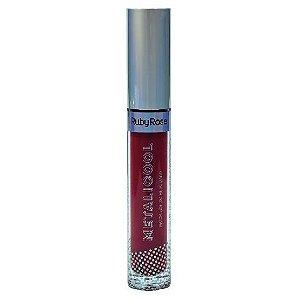 Batom Líquido Metalizado Ruby Rose Metacool Cor 256