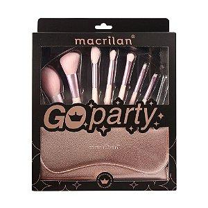 Kit Go Party de 07 Pincéis Macrilan ED007
