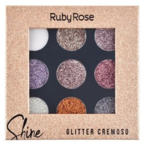 Paleta De Sombra Shine Glitter Ruby Rose Light HB8407