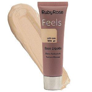 Base Líquida Feels Ruby Rose Café com Leite 40