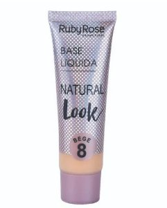 Base Líquida Natural Look Ruby Rose Bege 8 - HB8051