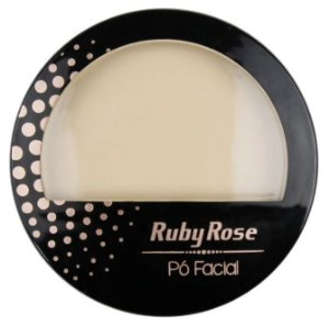 Pó Facial com Espelho Ruby Rose  HB7212 Cor 02