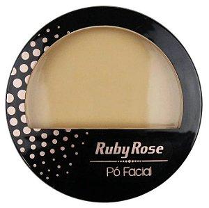 Pó Facial com Espelho Ruby Rose  HB7212 Cor 04