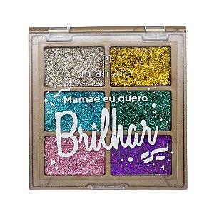 Paleta de Glitter Prensado Mia Make Mamãe Eu Quero Brilhar Cor 01