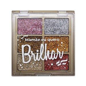 Paleta de Glitter Prensado Mia Make Mamãe Eu Quero Brilhar Cor 02