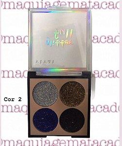Paleta de Glitter 4 Cores Full Vivai Cor 2