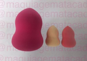 Kit 3 Esponjas para Maquiagem Acinturadas