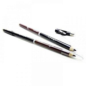 Lápis Delineador de Olhos 2 em 1 Preto e Marrom Com Apontador Vivai