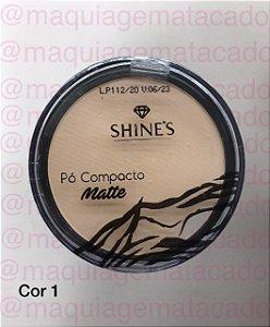 Pó Compacto Matte Shines Cor 1