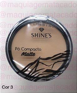 Pó Compacto Matte Shines Cor 3