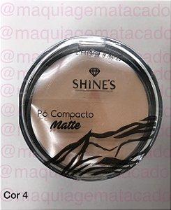 Pó Compacto Matte Shines Cor 4